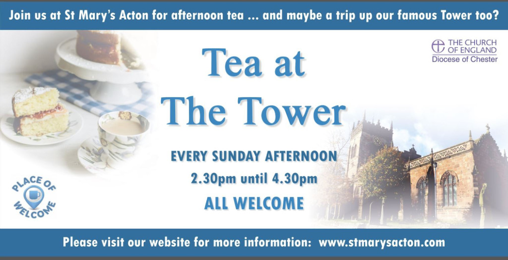 Tea in the tower banner