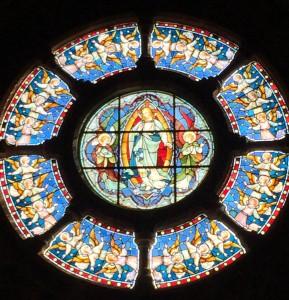 St Thomas rose window